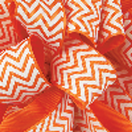 Torrid Orange Grosgrain Chevron Ribbon