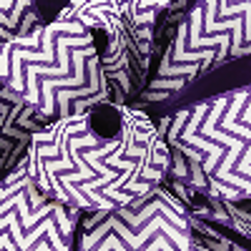 Purple Grosgrain Chevron Ribbon