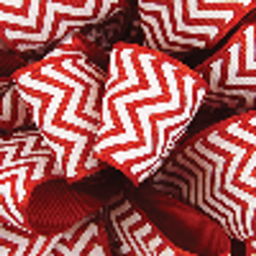 Red Grosgrain Chevron Ribbon