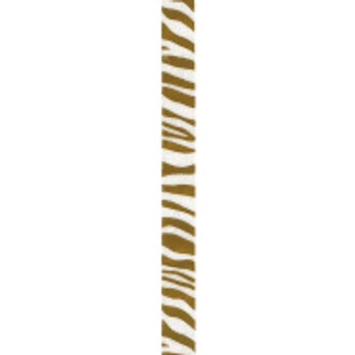 Old Gold Zebra Crystal Ribbon
