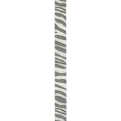 Silver Zebra Crystal Ribbon
