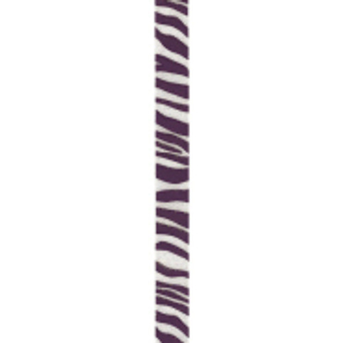 Regal Purple Zebra Crystal Ribbon