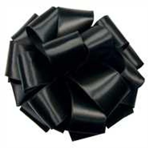 """4"""" Black Wired Contessa Satin Ribbon"""