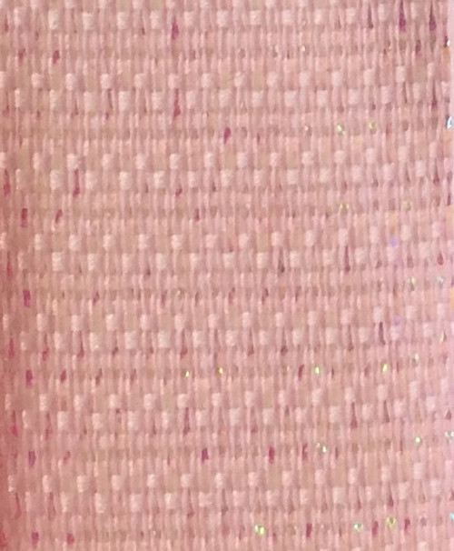 Light Pink Wired Metallic Ribbon - Starleene