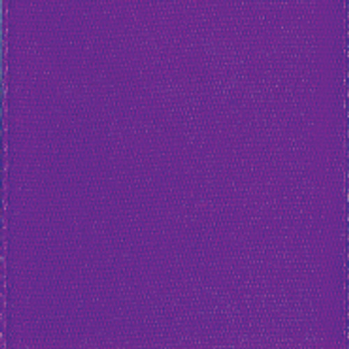 Purple Single Faced Satin Ribbon