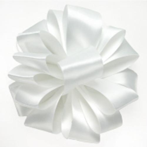 White Double Faced Satin Wholesale Ribbon.