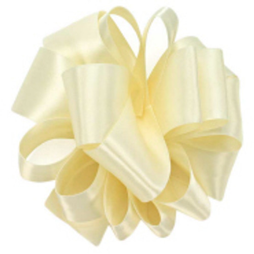 Ivory Wholesale Double Faced Satin Ribbon.