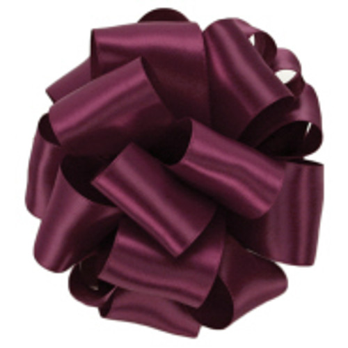 Wine Double Faced Satin Ribbon