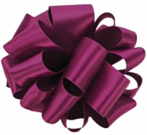 Purple Wine Double Faced Satin Ribbon