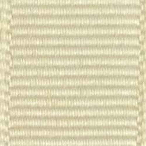 Cream Solid Grosgrain Ribbon