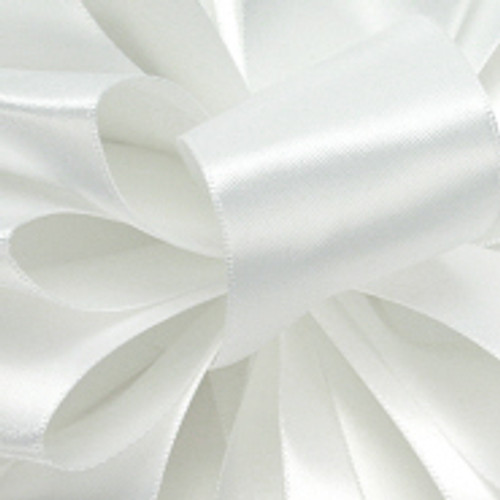 1/8 White Dainty Satin ribbon