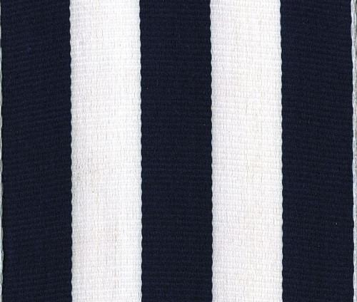 Navy Carnival Striped Grosgrain Wholesale Ribbon.