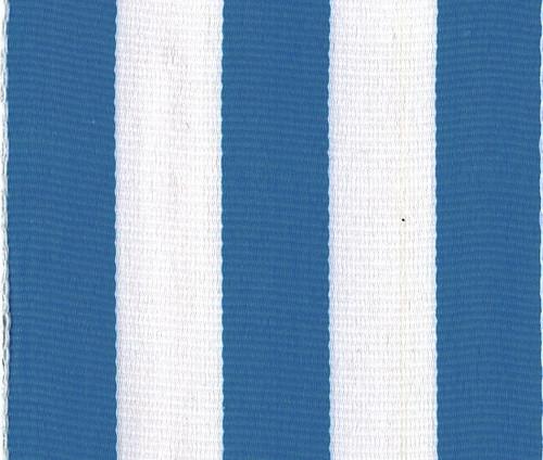 Turquoise Carnival Striped Grosgrain