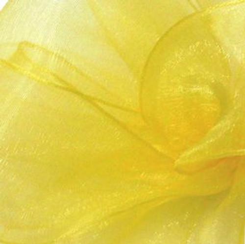 Yellow Sheer Fabric.