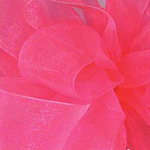Rose Pink Sheer Fabric.