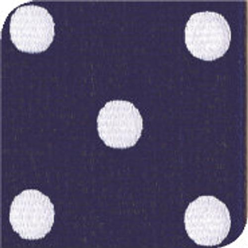 Light Navy / White Grosgrain Polka Dots