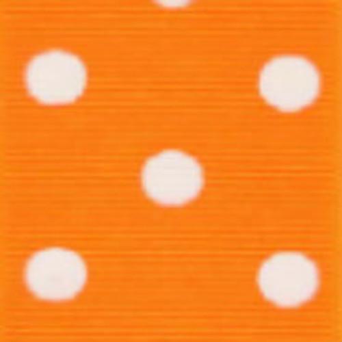 Torrid Orange / White Grosgrain Polka Dots
