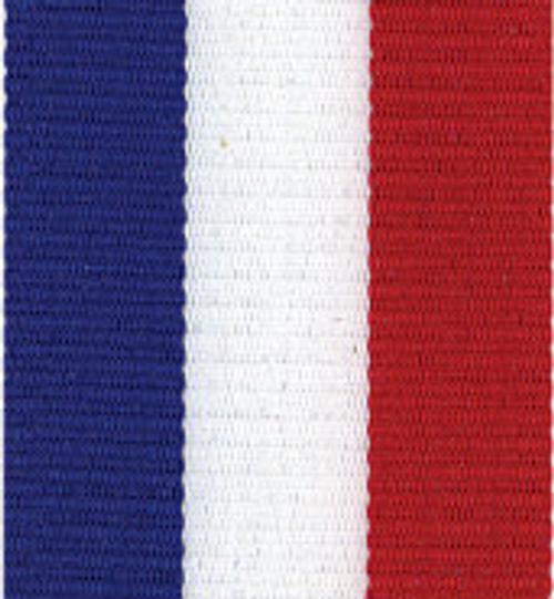 Patriotic, Red White and Blue Tri-Striped Grosgrain Ribbon.