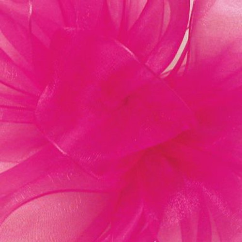Shocking Pink Simple Sheer Fabric.