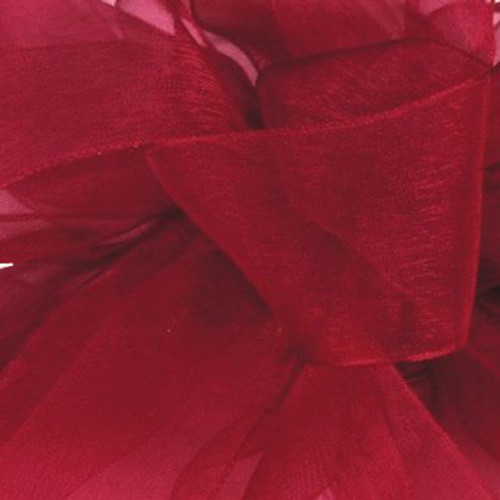 Burgundy Sheer Fabric.