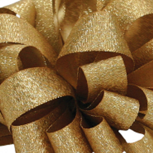 Luxe Old Gold Satin Glitter Ribbon