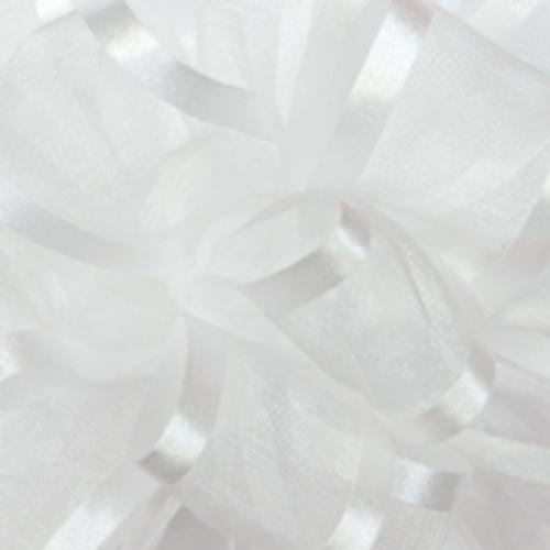 White Pirouette Sheer / Satin Ribbon