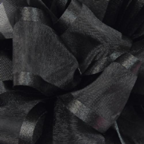Black Pirouette Sheer / Satin Ribbon