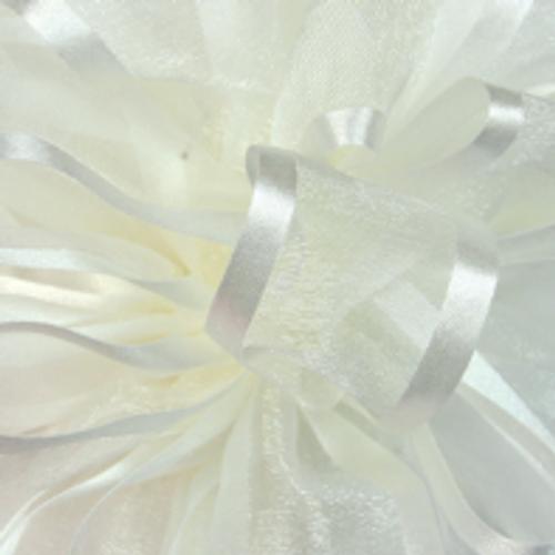Antique White Pirouette Sheer / Satin Ribbon