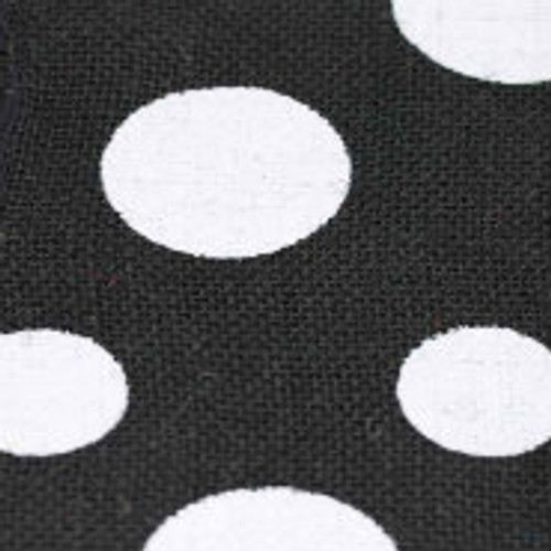 Black Wired Edge Burlap Dots