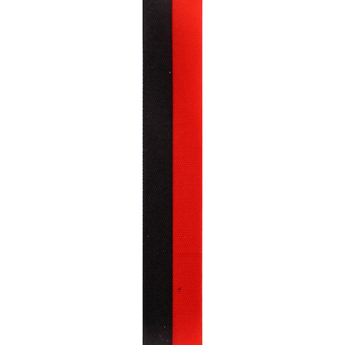 Red and Black Vertical Striped Ribbon