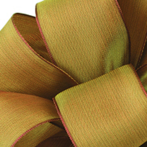 Holiday Gold Wired Woven Ribbon