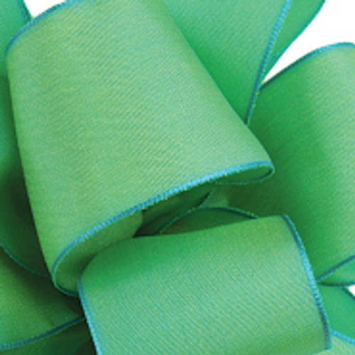 Celedon Wired Woven Ribbon