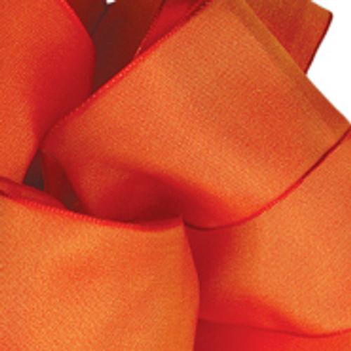 Torrid Orange Wired Woven Ribbon