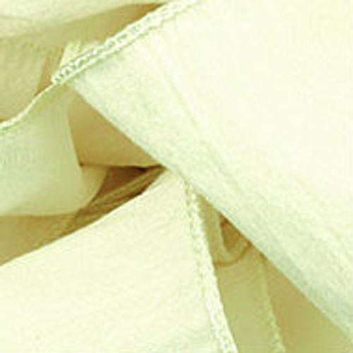 Antique White Wired Woven Ribbon