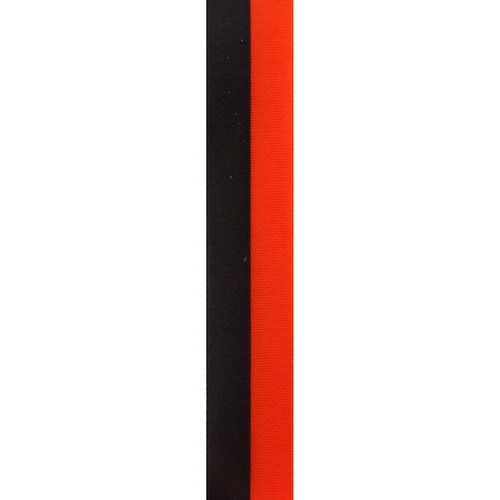 Orange and Black Vertical Striped Ribbon