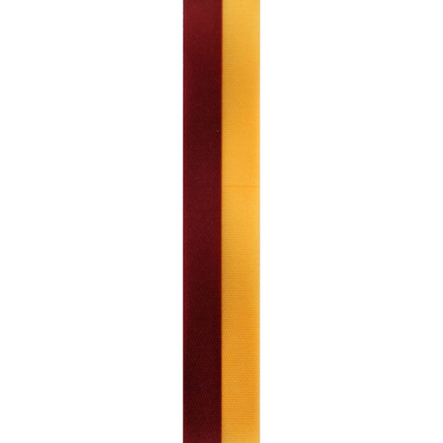 Burgundy and Gold Vertical Striped Ribbon