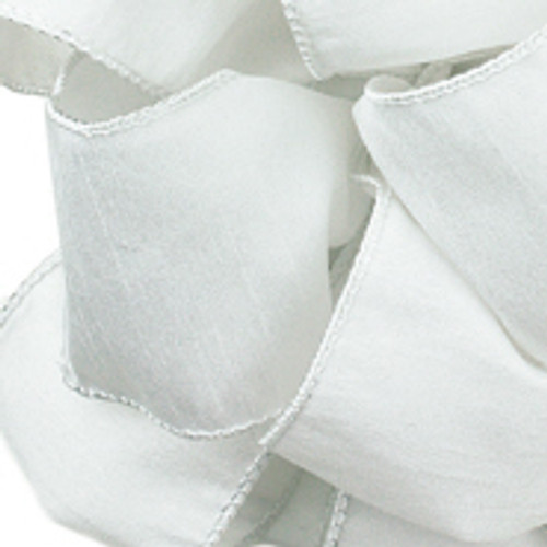 Anisha - White Wired Edge Ribbon