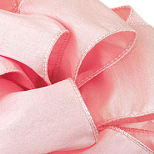 Anisha - Lt. Pink Wired Edge Ribbon