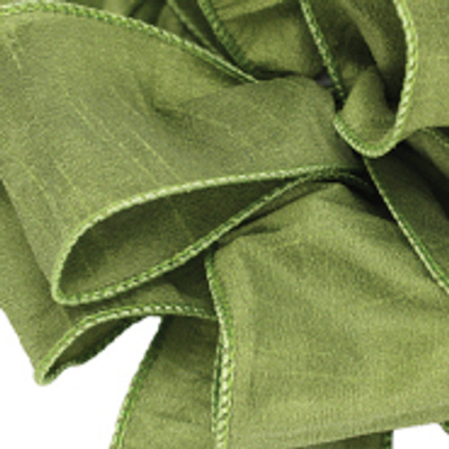 Anisha - Chartreuse Wired Edge Ribbon
