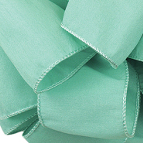 Anisha - Aqua Wired Edge Ribbon