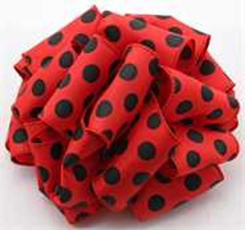 Red_Black Polka Dot Wired Ribbon