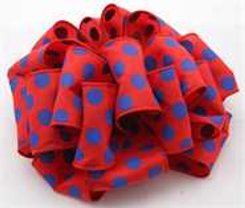 Blue/Red Dot Wired Ribbon