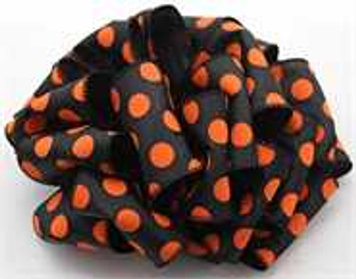 Orange/Black Dot Wired Ribbon