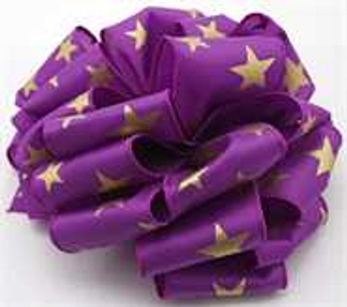 Gold and Purple Star Wired Ribbon