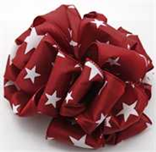Burgundy Star Wired Ribbon