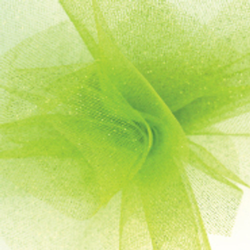 Sparkle Tulle Fabric - Apple Green