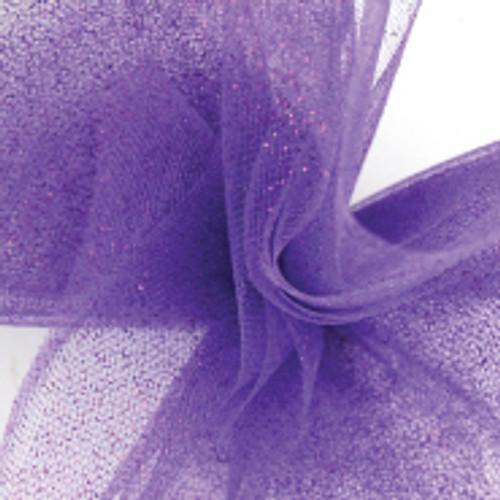 Sparkle Tulle Fabric - Purple