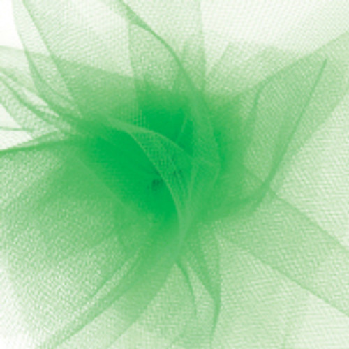 Solid Tulle Fabric - Kelly Green