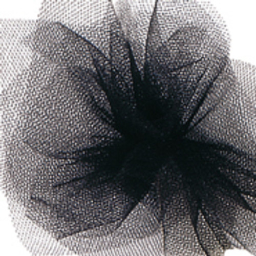 Solid Tulle Fabric - Black