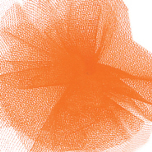 Solid Tulle Fabric - Orange Cream